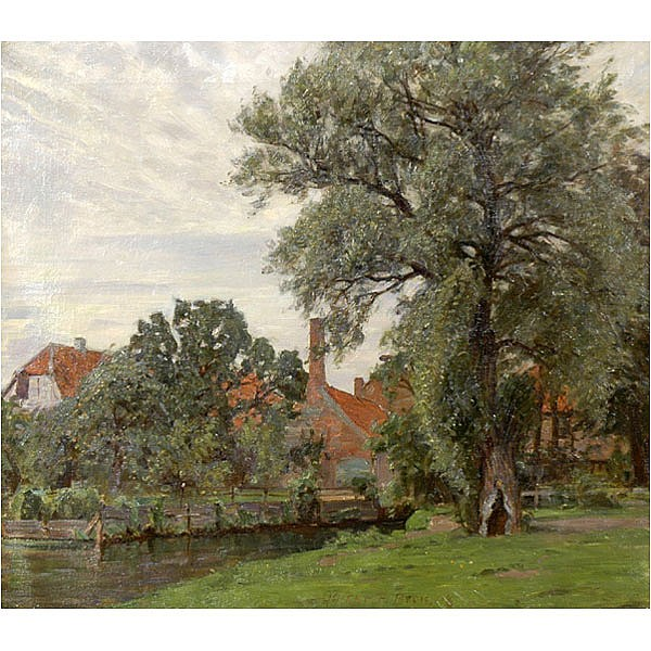 Christian Beck, Denmark, Landscape oil painting