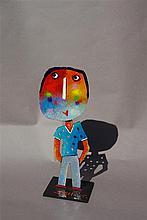 JEHAN Christophe (né en 1961) - Décontracté - Acrylique sur acier pièce un