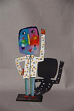 JEHAN Christophe (né en 1961) - Hello - Acrylique sur acier signée sur la