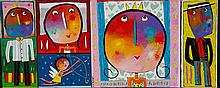 JEHAN Christophe (né en 1961) - À chacun son roi, à chacun sa reine - Acry