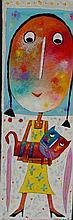 JEHAN Christophe (né en 1961) - Minette et Midinette - Acrylique sur toile