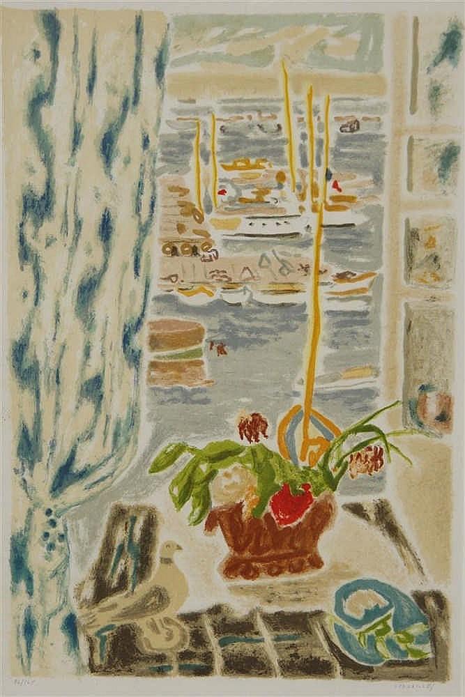 Cavaill s jules 1901 1977 fen tre ouverte sur le port for Fenetre ouverte