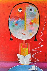 "JEHAN Christophe (Né en 1961) - ""PAUSE CAFE"" -"