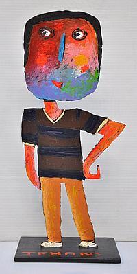 """JEHAN Christophe (Né en 1961) - """"JEUNE HOMME AU"""