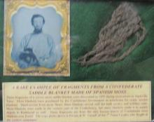 RARE Example of Fragments from a Confederate Saddle Blanket Made of Spanish Moss, EC