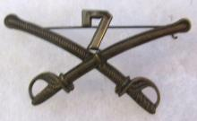 Indian Wars Era Officers Style Hat Insignia (7th Calvery , Custer's Regiment), 3 1/2