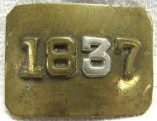 Civil War Period 1837 Buckle with 3 Highlighted, 2 3/4