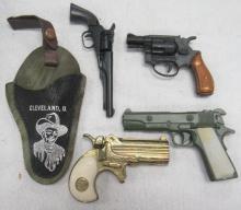 Four Miniature Collectible Guns, 3 1/2