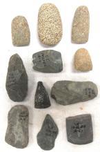 Ten Working Stone Tools, Ohio Collection, 2-4