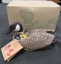 Heritage Decoys J.B. Garton Canadian Goose with Chick Hand Made, MIB