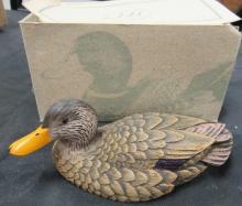 Heritage Decoys J.B. Garton Black Duck Hand Made, MIB