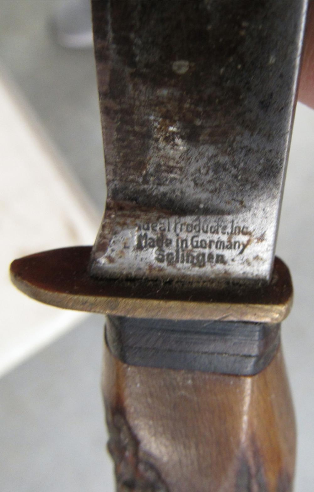 Vintage Old Germany Deer Horn Solingen Ideal Products Inc Hu