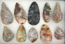 Ten Adena Blades, Ohio Flintridge and Nethers Flint, Ohio Collection