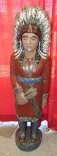 Large Vintage Wooden Indian Statue, EC