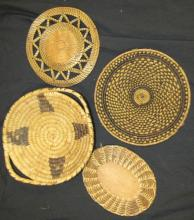 Four Indian Trays, Largest 8 1/2
