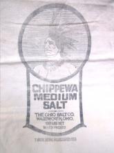 Vintage Indian Trade Mark Chippewa Salt Bag, EC