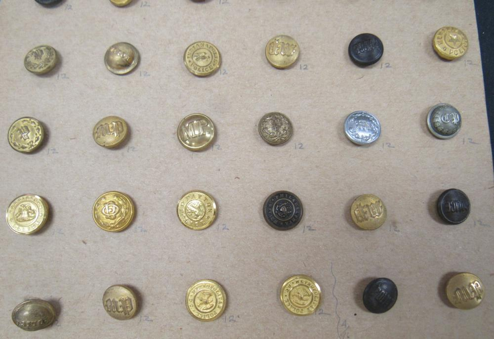 Forty Eight Vintage Police Buttons, EC
