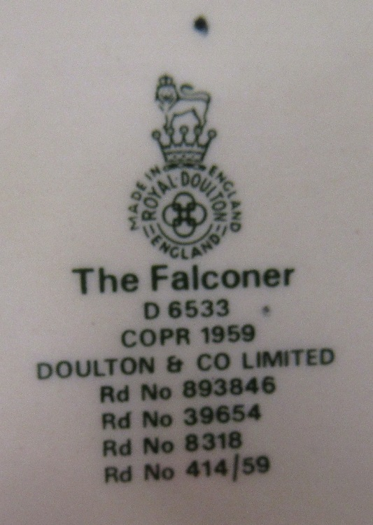 """Royal Doulton /""""The Falconer/"""" D 6533 Large Character Jug"""