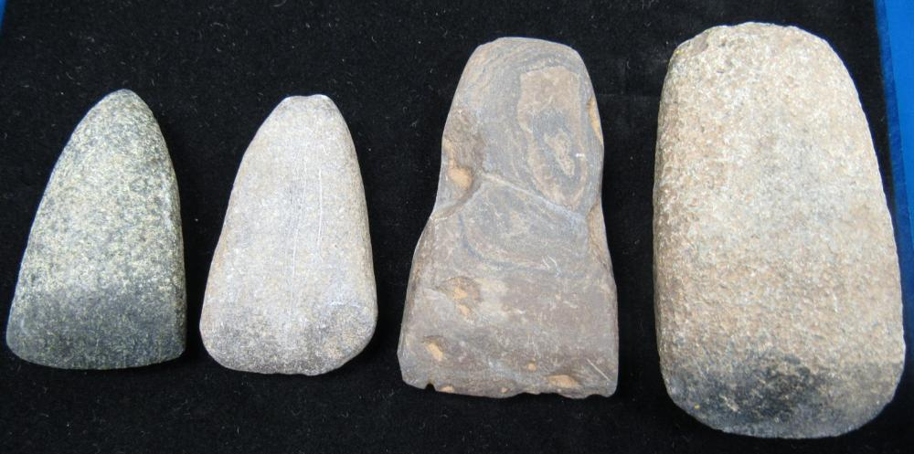 "Four Celts, 4"" - 2 3/4"", Hancock County, Ohio, Don Bash Collection"