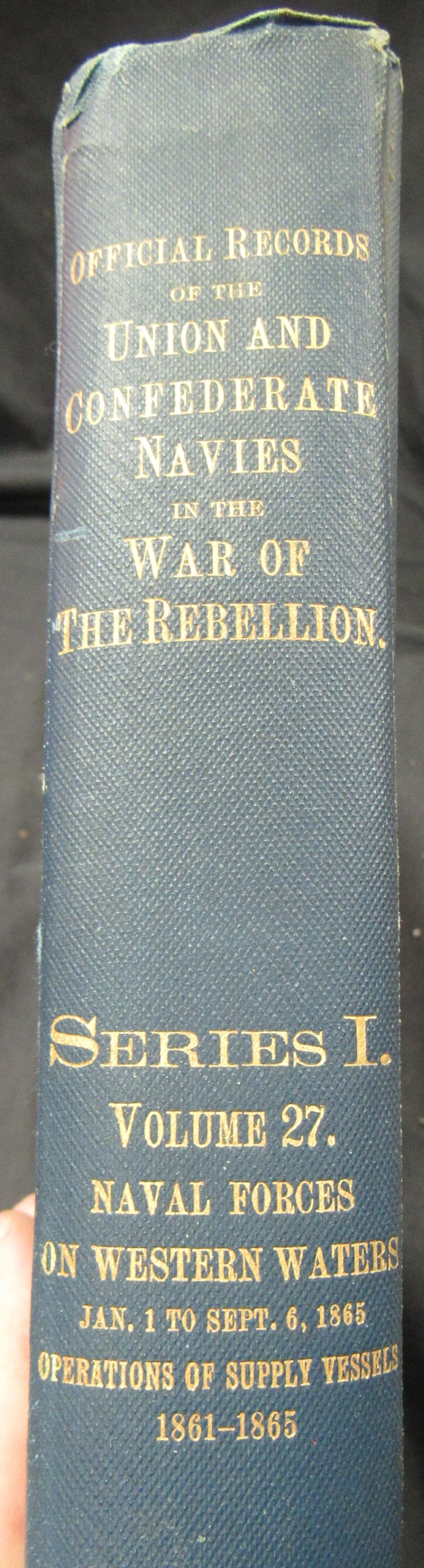 Vintage Official Records Navies in the War of Rebellion Book  Series I Vol.27