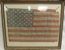 Vintage 50 Star Flag Framed, 16