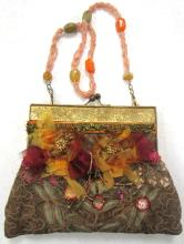Wayne M. Kleski One of a Kind Beaded Silk Evening Bag, 9