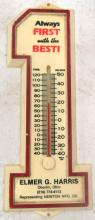 Vintage Number One Advertisement Thermometer, Plastic, 8 1/2