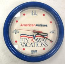 American Airlines Battery Operated Clock, 8 1/2