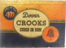 Vintage Cigar Box Lid - Dover Rum Soaked Crooks Dipped In Rum - 6 cents Cardboard, 8