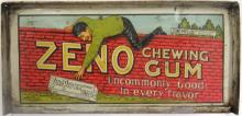 Zeno Chewing Gum Tin Diplay Box Lid, circa 1910, 9 1/2
