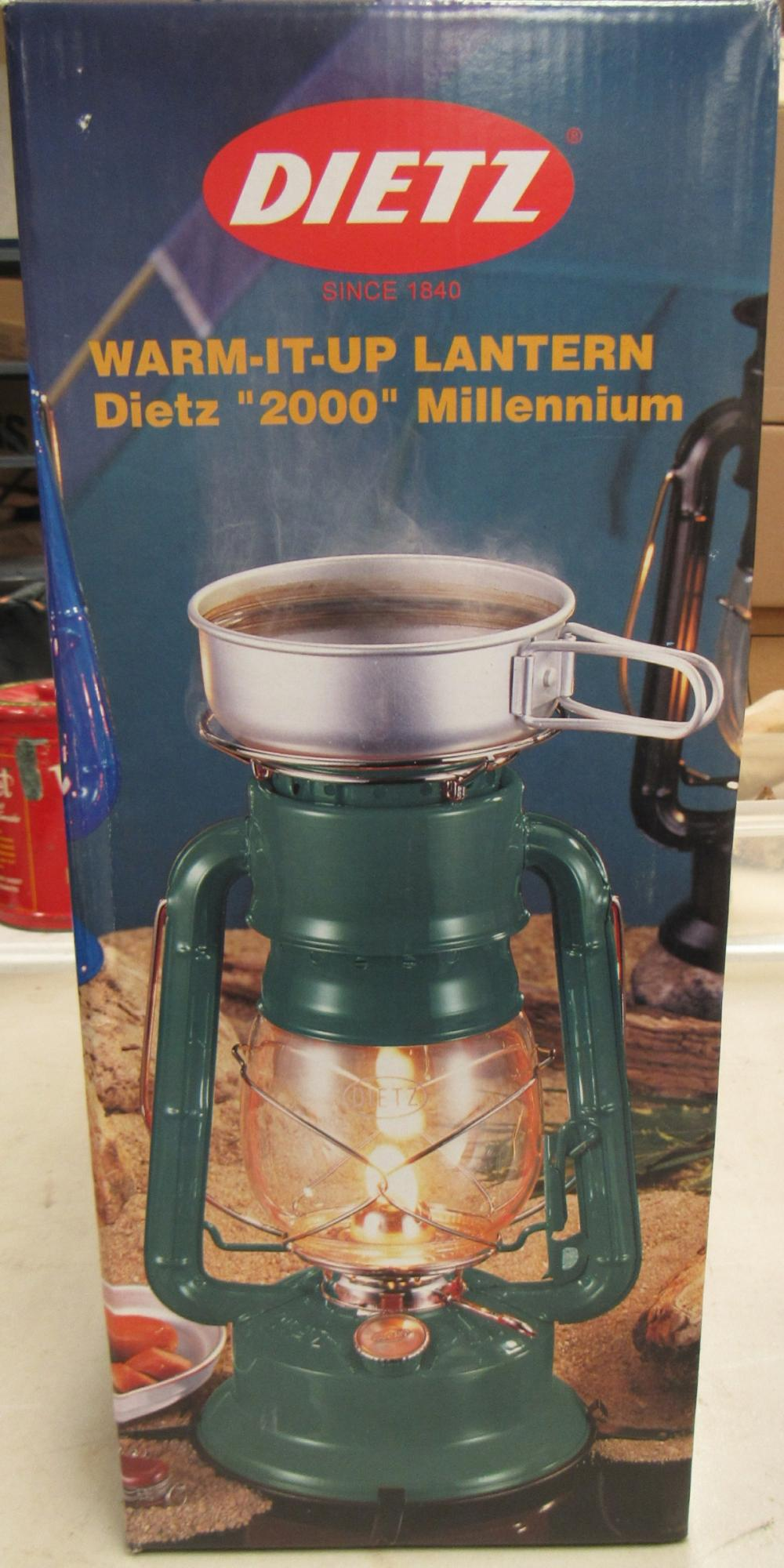 Green Dietz 2000 Millennium Warm It Up Oil Kerosene Cooker Camping Lantern, MIB