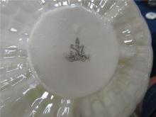 Lot 190: Vintage Irish Belleek Limpet Shell Design, First Mark 1856-1891, Cup and Saucer, EC