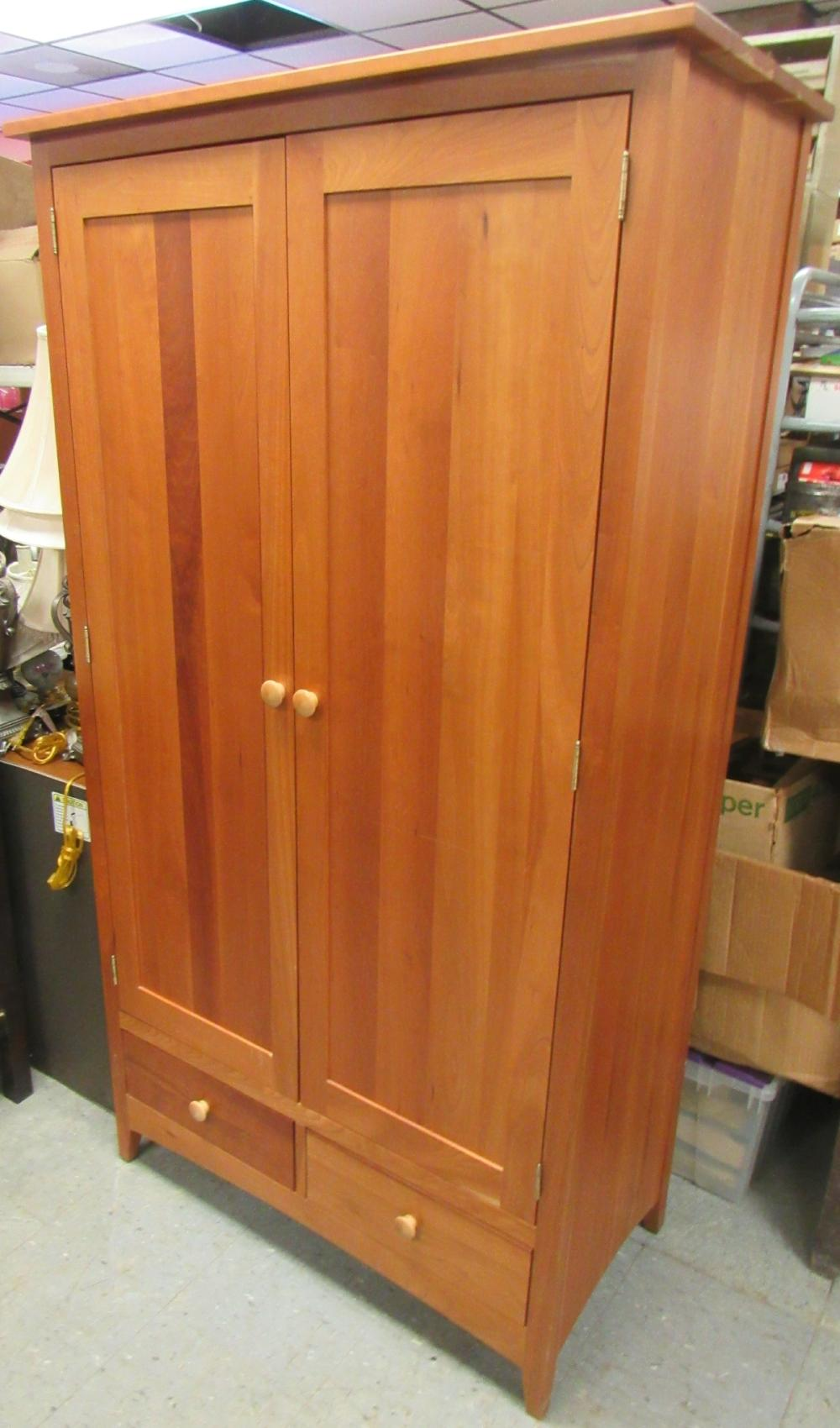 """Amish Made Solid Cherry Armoire Bedroom, 72""""H x 39""""W x 20""""D ,All Responsibility for Shipping will be the Successful Bidder. You must arrange for pickup directly or by a shipper within 7 days after sale."""