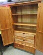 """Lot 137: Amish Made Solid Cherry Armoire Bedroom, 72""""H x 39""""W x 20""""D ,All Responsibility for Shipping will be the Successful Bidder. You must arrange for pickup directly or by a shipper within 7 days after sale."""