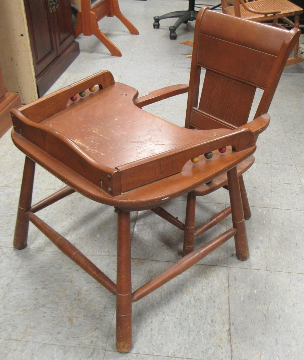 """Lot 197: Vintage Child's Play Table and Matching Chair, 22 x 17 x 18 1/2""""H, Table, All Responsibility for Shipping will be the Successful Bidder. You must arrange for pickup directly or by a shipper within 7 days after sale."""