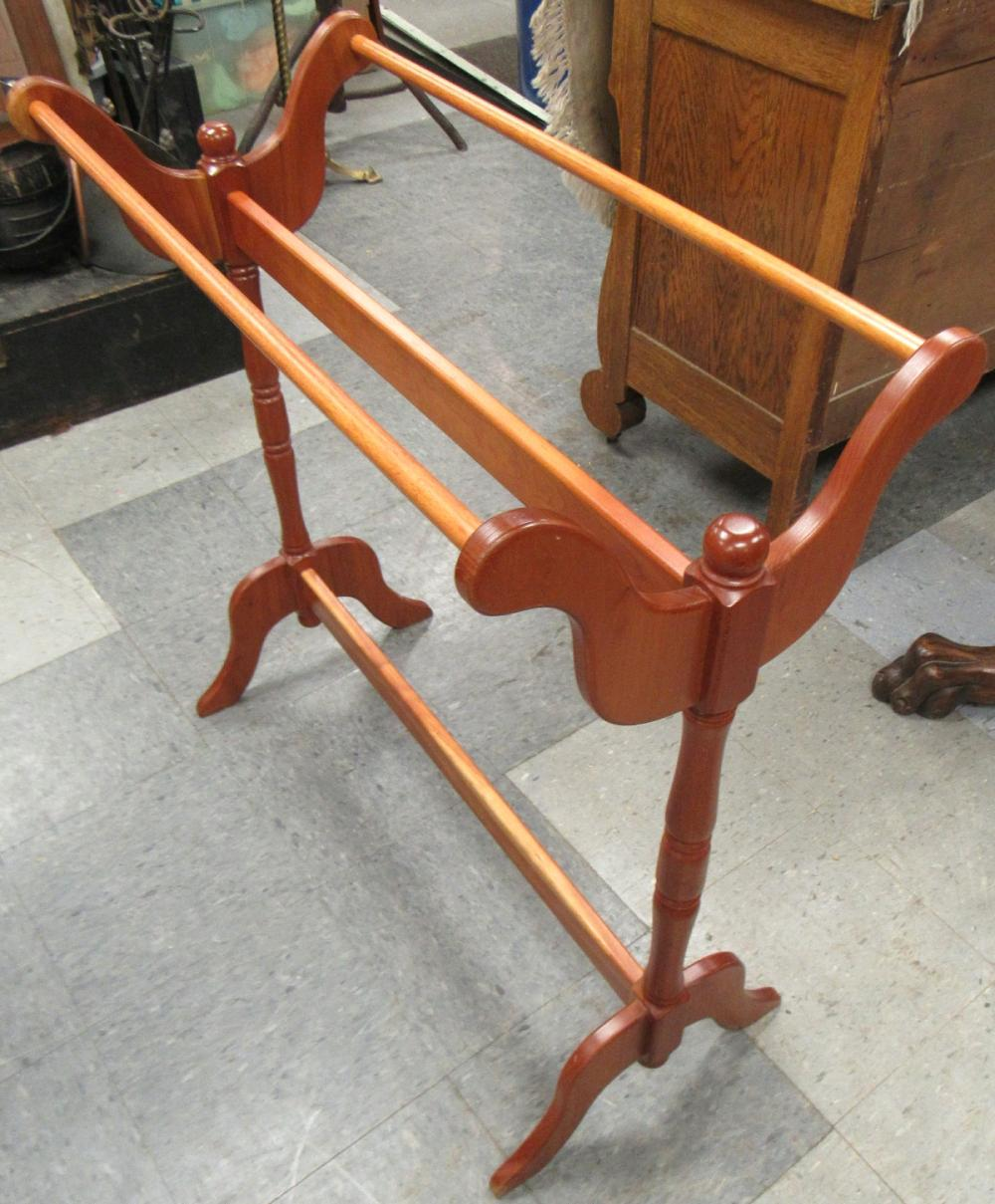 "Lot 17: Amish Made Cherry Quilt Rack, 33 1/2"" x 15"" x 34 1/2"" ,All Responsibility for Shipping will be the Successful Bidder. You must arrange for pickup directly or by a shipper within 7 days after sale."