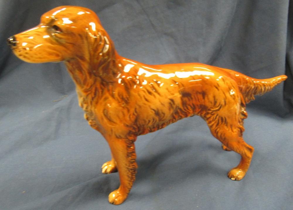 """Goebel Irish Setter Porcelain Figurine CH 622 10"""" Long, EC"""