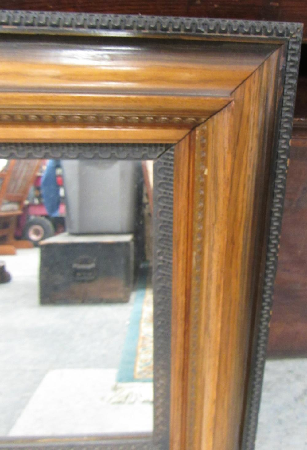 "Lot 122: 1800's Victorian Ornate Framed Mirror,20 x 23 1/2"", EC"