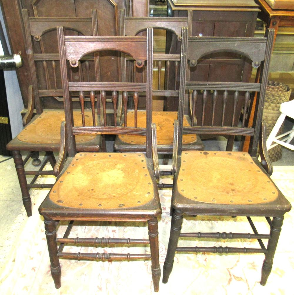 Set of Four 1800's Hip Hugger Armless Chairs, All Responsibility for Shipping will be the Successful Bidder. You must arrange for pickup directly or by a shipper within 7 days after sale.