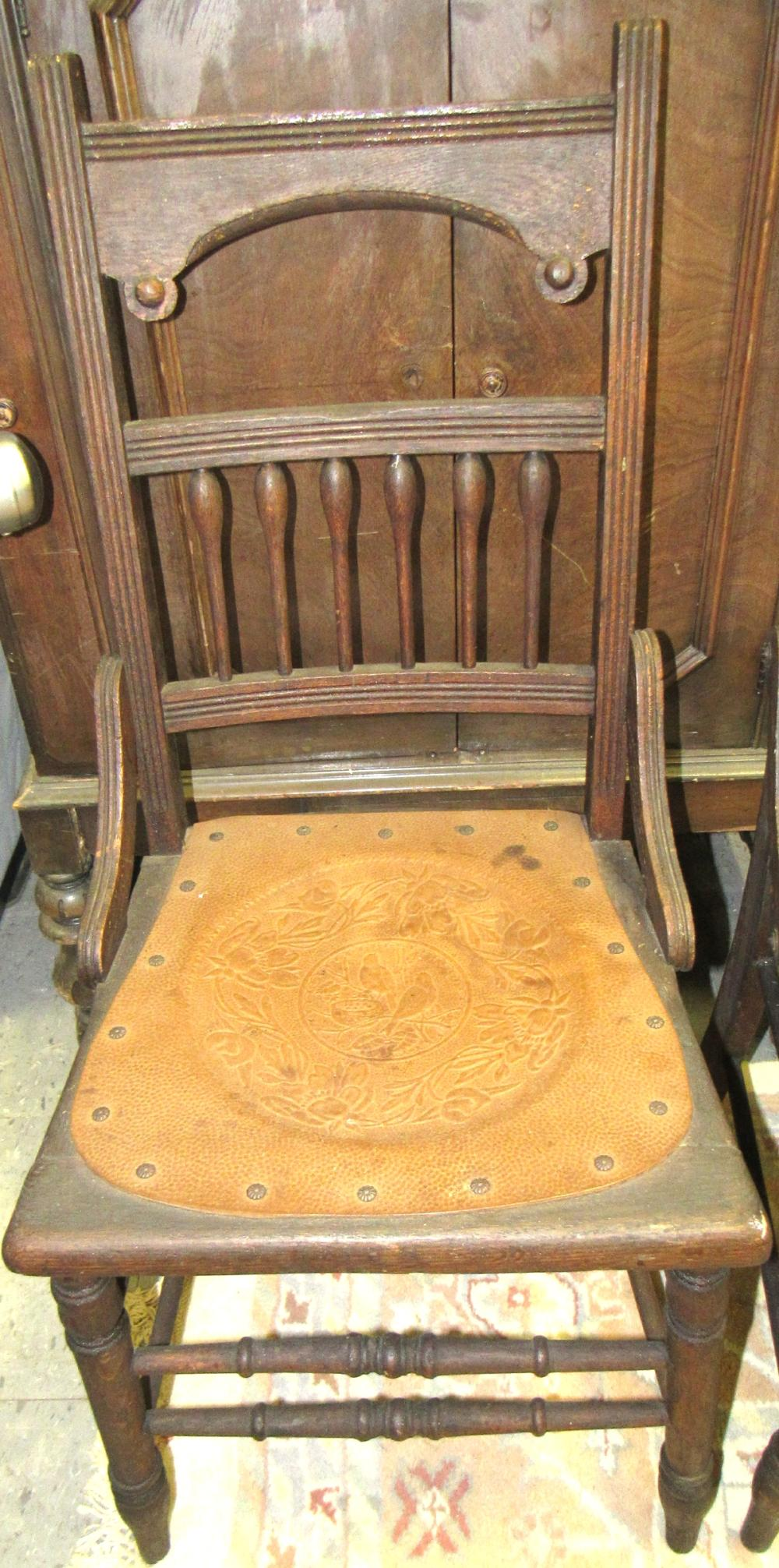 Lot 172: Set of Four 1800's Hip Hugger Armless Chairs, All Responsibility for Shipping will be the Successful Bidder. You must arrange for pickup directly or by a shipper within 7 days after sale.