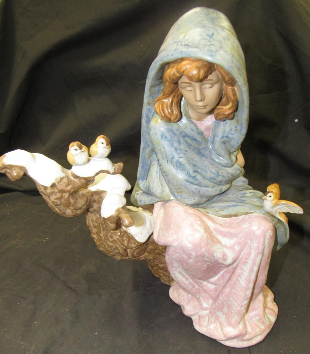 """Lladro Waiting For Spring 2354, 12""""H x 9 1/2"""", EC"""