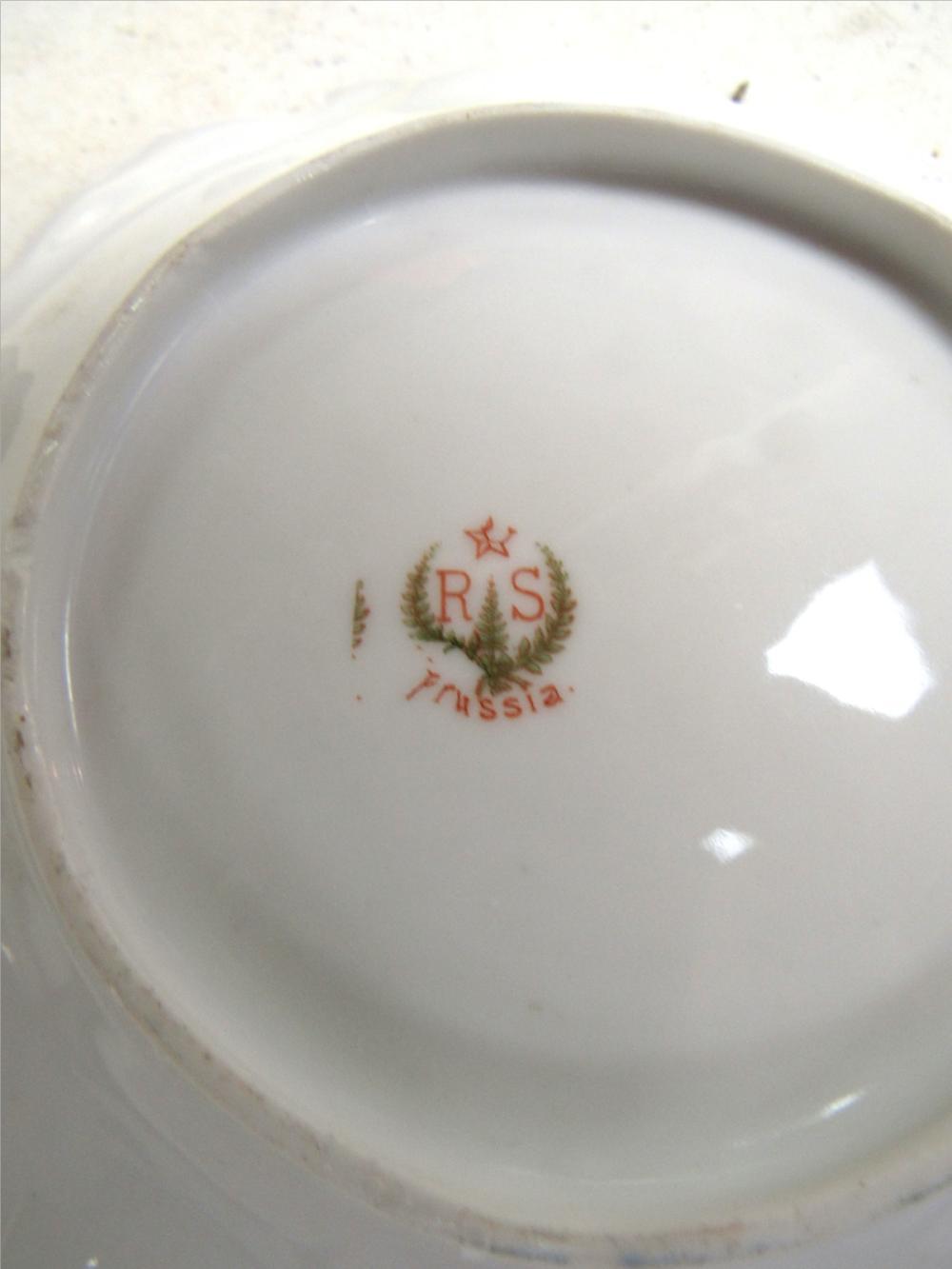 "Lot 71: 6"" Shallow Bowl, RS Prussia, EC"