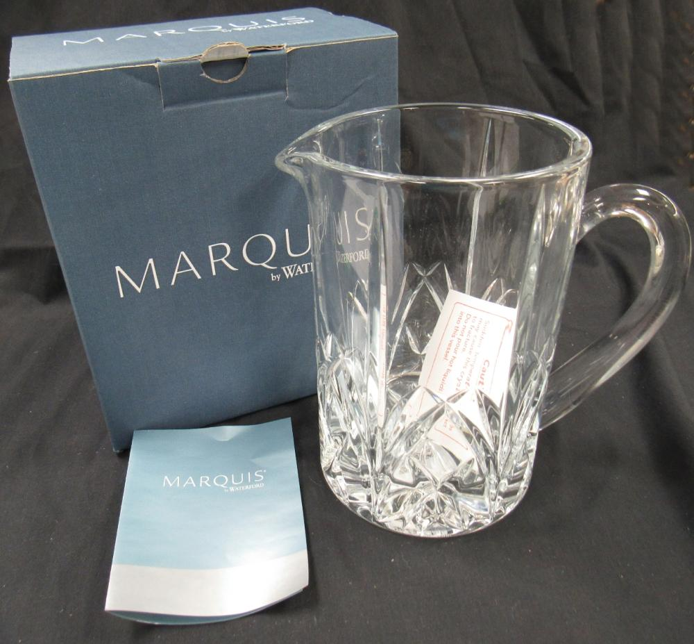 """Waterford Marquis Brookside Lead Cut Crystal Clear 30 Ounce Pitcher 7"""", MIB"""