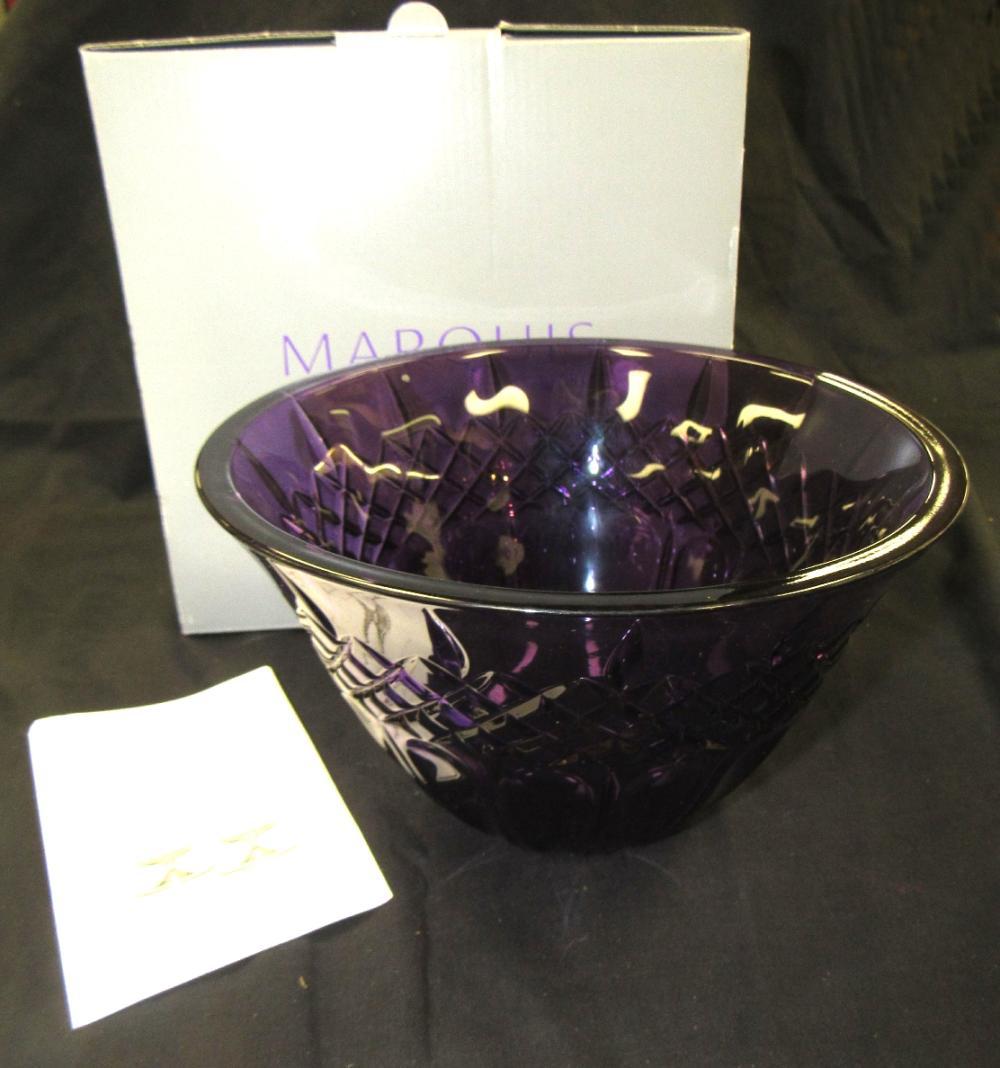 """Waterford Marquis Shelton Purple  8"""" Bowl , MIB"""
