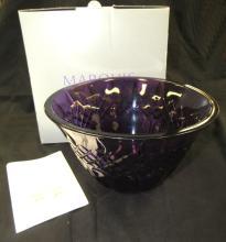 """Lot 49: Waterford Marquis Shelton Purple 8"""" Bowl , MIB"""