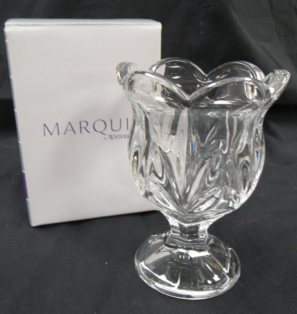 Lot 79: Waterford Marquis Finley Tooth Pick Holder, MIB