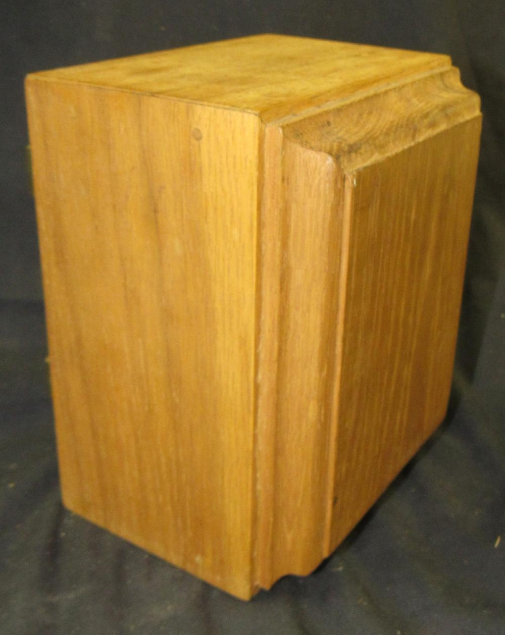 """Lot 163: Antique Post Office Door US Postal Mail Box Door Box, 4 x 3 1/2"""" x 6 1/2""""H, EC"""