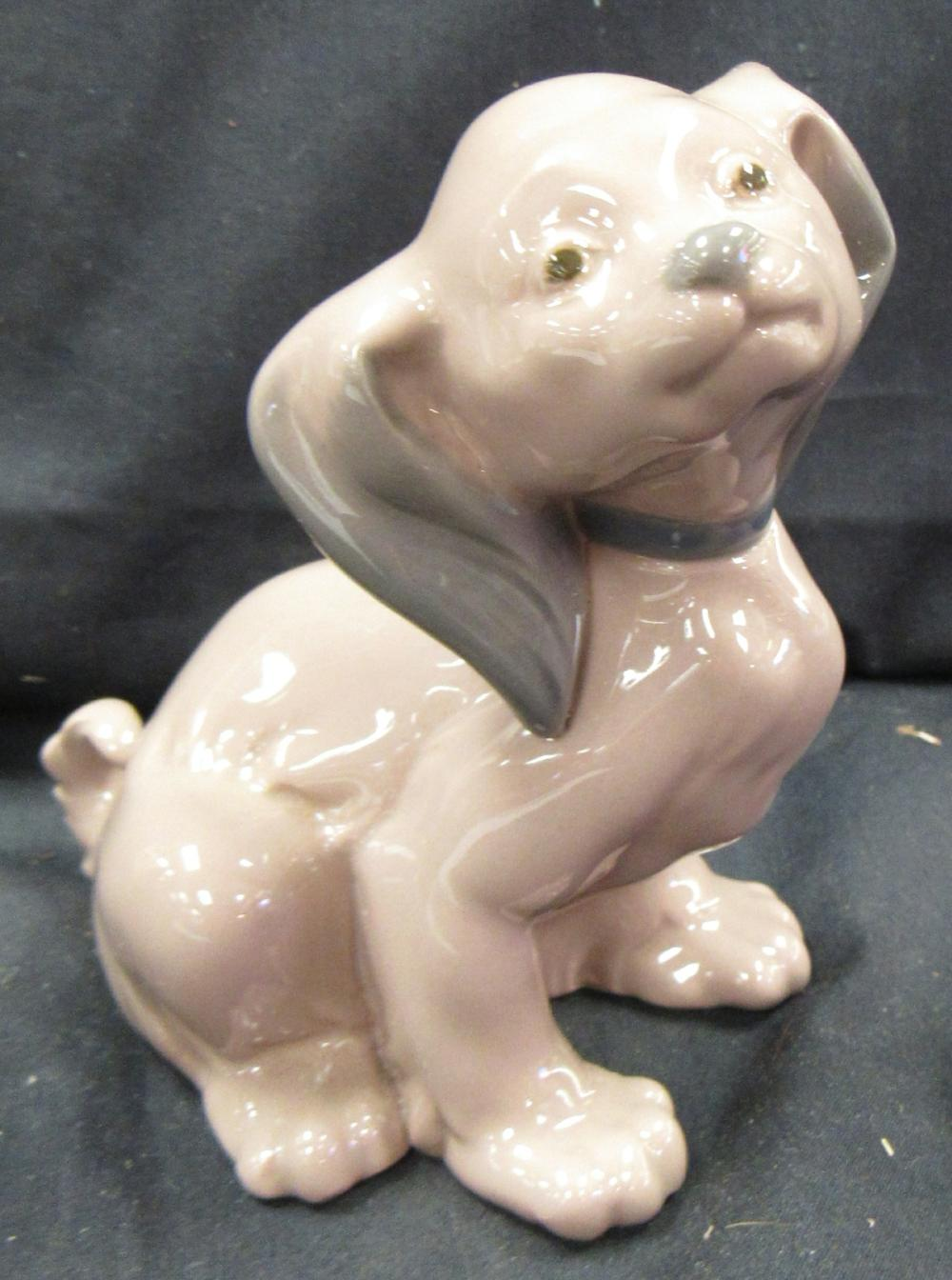 "Lot 166: Vintage Lladro NAO Dog Puppy Figure Large Ears, 4 1/2""H, EC"