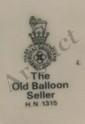Vintage Royal Doulton The Old Balloon Seller HR 1315, EC