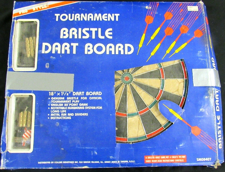 Pro Championship Dart Board Style Bristle Dartboard Tournament Game, EC